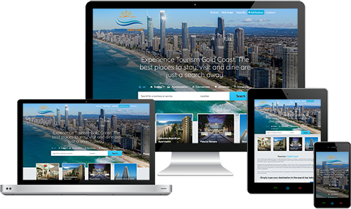 Tourism Gold Coast displayed beautifully on multiple devices